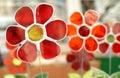 Decorative glass flowers Royalty Free Stock Photo