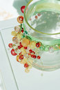 Decorative glass jar Royalty Free Stock Photography
