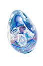 Decorative glass paperweight against white egg shaped isolated background Stock Images