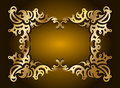 Decorative gold frame for text. Vector Stock Photography