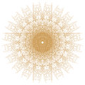 Decorative gold  patterns on white Royalty Free Stock Photo