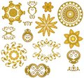 Decorative Gold Web Icons Royalty Free Stock Photo