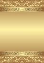 Decorative golden background illustration Stock Photos