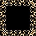 Decorative golden frame Stock Photo