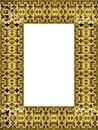 Decorative golden frame Royalty Free Stock Images