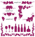 Decorative grape illustration Royalty Free Stock Images