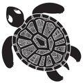 Decorative Graphic Turtle,  Tr...