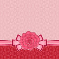 Decorative greeting card stylized rose bow background Royalty Free Stock Photos