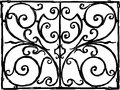 Decorative grille Royalty Free Stock Image
