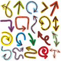 Decorative Hand dravn Sketch Doodle colorful arrows on a white background