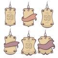 Decorative hang tags Royalty Free Stock Photo