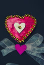 Decorative heart as a gift for lovers hand made Royalty Free Stock Image