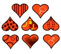 Decorative heart in eight forms as a Royalty Free Stock Photography