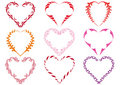 Decorative heart frames, vector Stock Photos