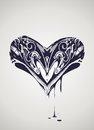 Decorative heart illustration Royalty Free Stock Image