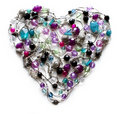 Decorative heart from jewelry Royalty Free Stock Photo