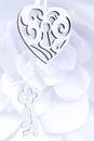 Decorative heart and key Royalty Free Stock Photo