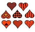Decorative heart part two in eight forms as a Royalty Free Stock Image