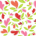 Decorative heart pattern Stock Image