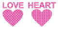 Decorative heart pink with ornament Royalty Free Stock Photos
