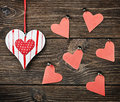 Decorative hearts toys Stock Photo