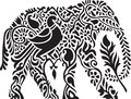 Decorative indian elephant vector design Stock Images