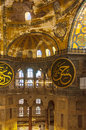 The decorative interior of the beautiful hagia sofia mosque situated in the turkish city of istanbul Royalty Free Stock Photos