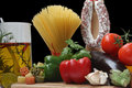 Decorative Italien Food Royalty Free Stock Photos