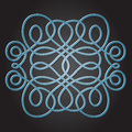 Decorative knot vector element like traditional chinese Royalty Free Stock Photo
