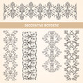 Decorative lace floral borders elements vintage design elements Royalty Free Stock Photography
