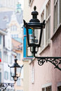 Decorative lamp on a house wall zurich switzerland Stock Image