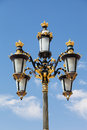 Decorative lamp near the royal palace in madrid spain Royalty Free Stock Images