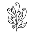 Decorative leaf with ornament original vector patterned design Stock Image