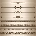 Decorative lines. Royalty Free Stock Photo