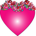 Decorative love heart Stock Photography