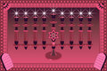 Decorative Menorah illustratio Stock Photography