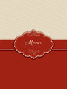 Decorative menu design in shades of red and cream Stock Images