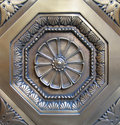 Decorative metal medallion Royalty Free Stock Photo