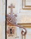 Decorative Mission Door Handle Royalty Free Stock Photo