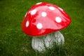 Decorative mushroom - huge amanita. Royalty Free Stock Photo