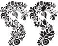 Decorative musical floral theme Royalty Free Stock Photo