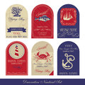 Decorative nautical set vintage style Royalty Free Stock Image