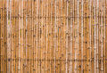 Decorative old bamboo wood background close up of fence wall Stock Photography
