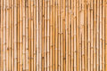 Decorative old bamboo wood close up of fence wall background Royalty Free Stock Photography