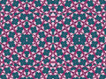 Decorative ornament pattern in vibrant turquoise and pink tones in geometric motif style Stock Images