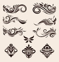 Decorative ornament set classic Royalty Free Stock Photography