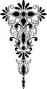 Decorative ornament vertical and symmetrical Royalty Free Stock Photo