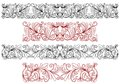 Decorative ornaments and borders with flourishes embellishments Royalty Free Stock Photo