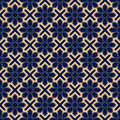 Decorative ornaments, colored seamless pattern. Wallpaper background with blue and golden elements