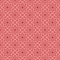 Decorative ornaments, red seamless pattern. Wallpaper background